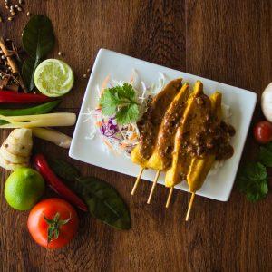 Satay Chicken Sticks (four skewers)